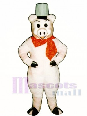 Brick Pig Mascot Costume Animal