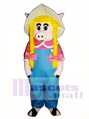 Cute Sally Sow Pig Piglet Hog Mascot Costume Animal
