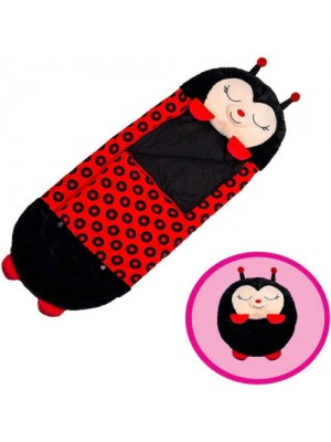 Happy Nappers Pillow & Sleepy Sack 2 in 1 Kids Foldable Sleeping Bag with Pillow Cartoon Animals Lady Bug