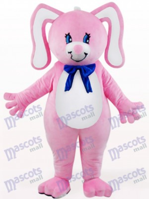 Easter Pink Rabbit With Floral Ears Animal Mascot Costume