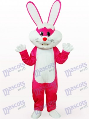 Easter Bunny In Rose Clothes Animal Mascot Costume