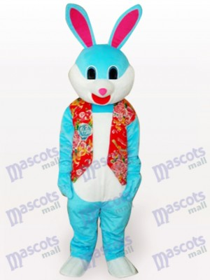 Colorful Easter Bunny Rabbit Short Plush Adult Mascot Costume