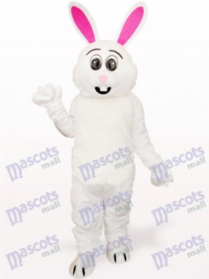 Easter White Rabbit With Red Ear Animal Adult Mascot Costume