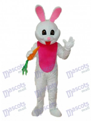 Easter Bunny with Carrot Mascot Adult Costume Animal