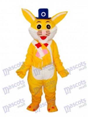 Easter Yellow Rabbit Mascot Adult Costume Animal