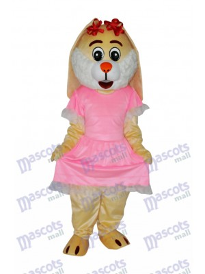 Easter Drooping Ear Rabbit Mascot Adult Costume Animal