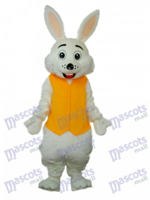 Easter Yellow Vest Rabbit Mascot Adult Costume Animal