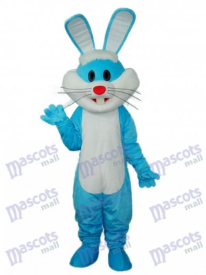 Easter Blue Rabbit Mascot Adult Costume Animal