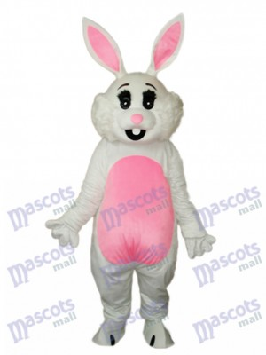 Easter Pink Ears Rabbit Mascot Adult Costume Animal