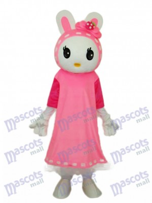 Easter Miss Rabbit Mascot Adult Costume Animal