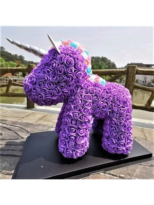 Purple Unicorn Flower Unicorn Best Gift for Mother's Day, Valentine's Day, Anniversary, Weddings and Birthday