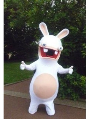 Rayman Raving Rabbit Easter Bunny Mascot Costume Cosplay