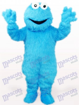 Blue Long Hair Cookie Monster Anime Adult Mascot Costume