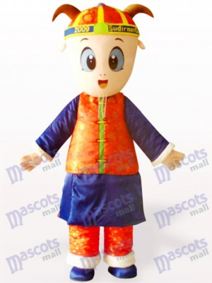 Male Sheep In Traditional Chinese Clothing Adult Mascot Costume
