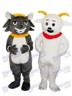 Pleasant Goat & Grey Bad Wolf Mascot Adult Costume Animal