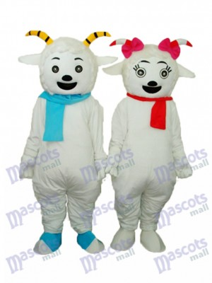 Pleasant Goat & Beauty Sheep Mascot Adult Costume Animal
