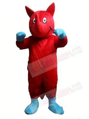 Red Rhino Mascot Costumes