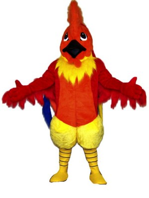 High Quality Red Rooster Mascot Costume