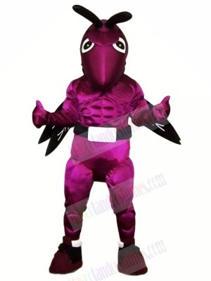 Power Purple Hornet Mascot Costumes Cartoon