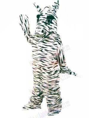 Friendly Zebra Mascot Costumes Cartoon