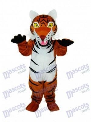 Brown Tiger Mascot Adult Costume Animal