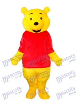 Winnie The Pooh Black Mouth Mascot Adult Costume Cartoon Anime