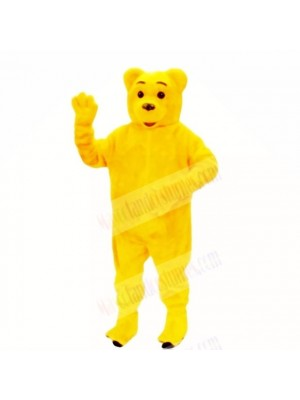 Smiling Golden Bear Mascot Costumes Cartoon