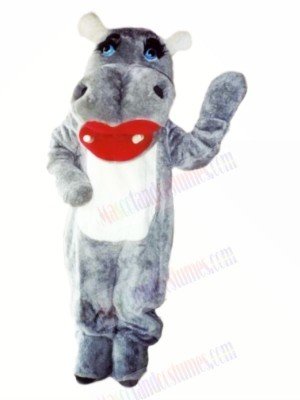 Lovely Grey Hippo Mascot Costumes Cartoon
