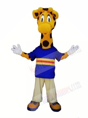 Cute Giraffe with Big Eyes Mascot Costumes Animal