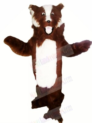 Fierce Brown and White Badger Mascot Costumes Adult