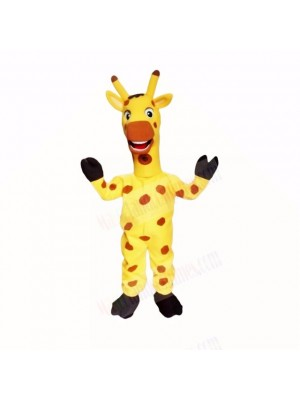 Yellow Friendly Lightweight Giraffe Mascot Costumes Cartoon