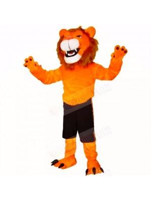 Orange Glorious Lion Mascot Costumes Adult