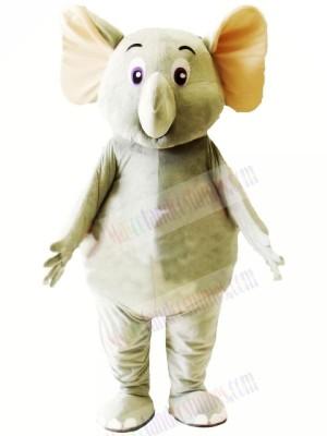 Little Cute Grey Elephant Mascot Costumes Cartoon