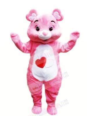 Lightweight Pink Bear Mascot Costumes Cartoon