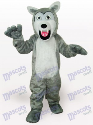 Grey Wolf Animal Adult Mascot Costume