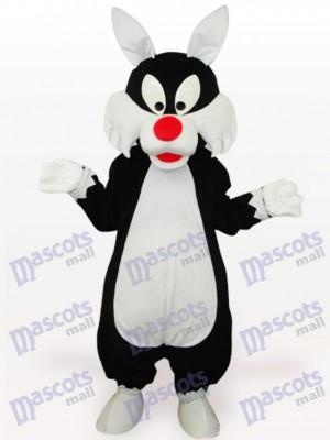 White Mouth Wolf Animal Adult Mascot Costume