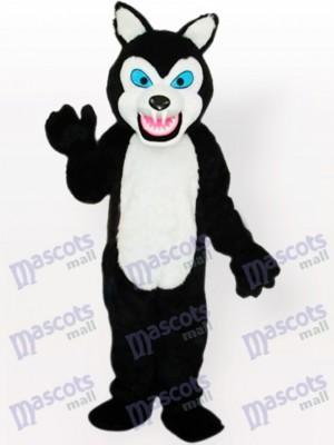 Little Black Wolf Adult Mascot Costume Tpye A Updated