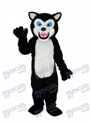 Black Wolf Adult Mascot Costume Animal