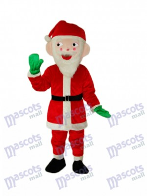 Santa Claus Mascot Adult Costume Christmas Xmas