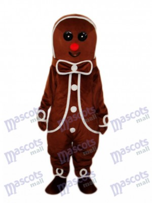 Gingerbread Man Mascot Adult Costume Christmas Xmas
