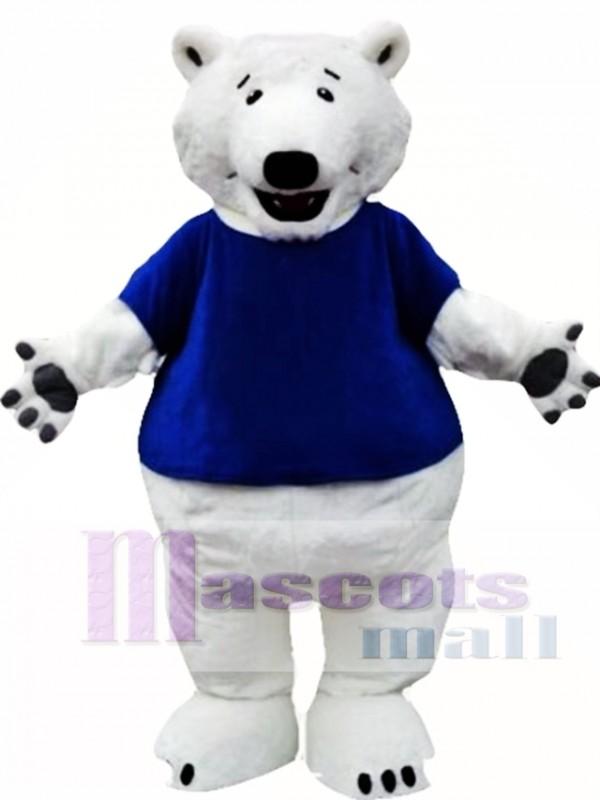 Polar Bear Mascot Costume with T-shirts