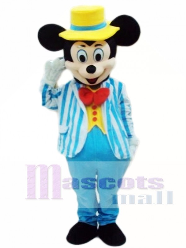 Hot Sale Blue Mikey Mouse Adult Mascot Costume
