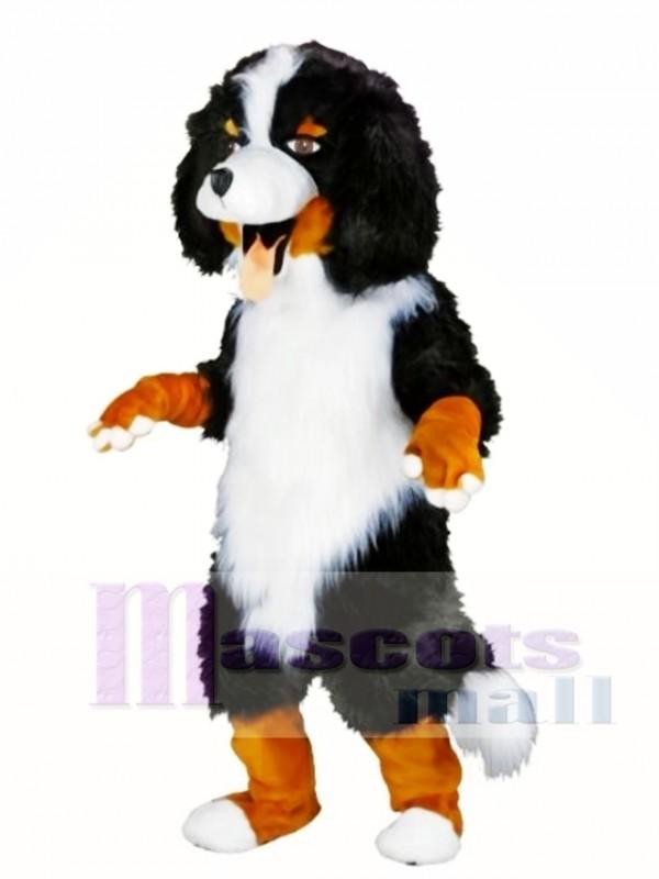 White and Black Sheep Dog Mascot Costume