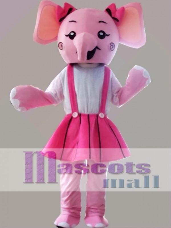 Pink Elephant Mascot Costume Cartoon