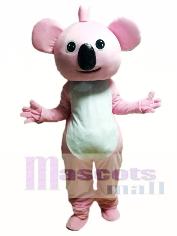 Pink Koala Cartoon Mascot Costume