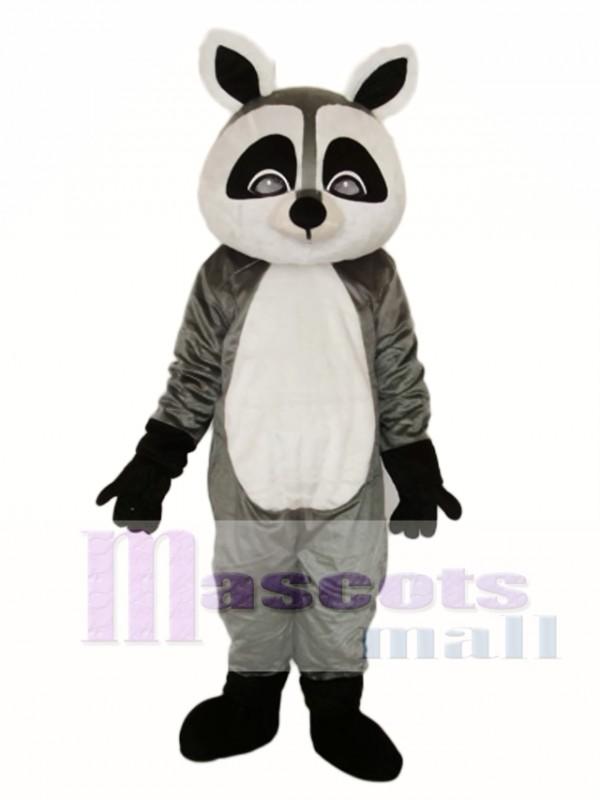 Flat Face Small Raccoon Mascot Adult Costume