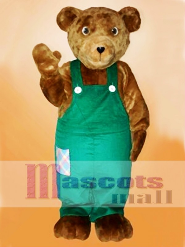 Cute Corduroy Bear Mascot Costume