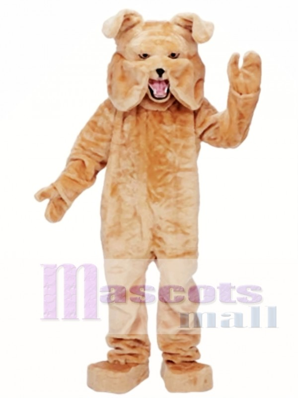 Adult Super Tan Bulldog Mascot Costume