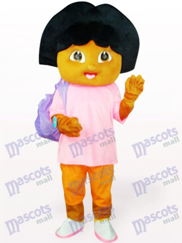 Pink Dora With Small Bag Anime Adult Mascot Costume