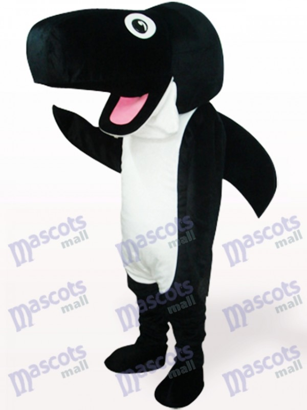 Black Whale Ocean Adult Mascot Costume